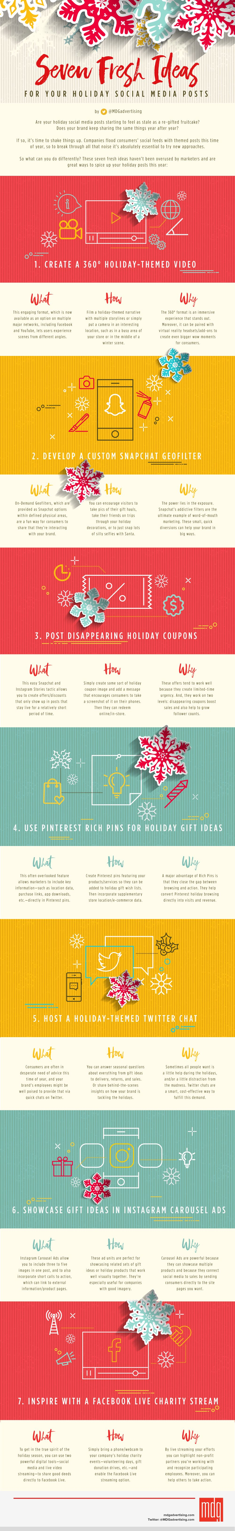 7 Fresh Ideas for Your Holiday Social Media Posts #Infographic