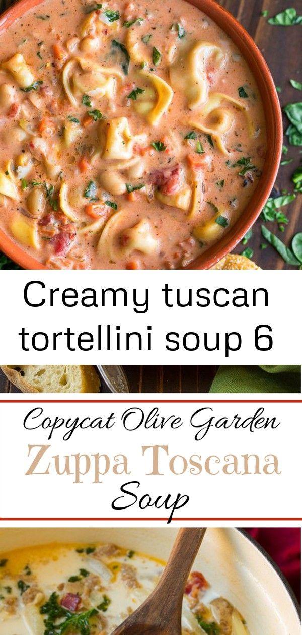 Creamy tuscan tortellini soup 6 #zuppatoscanasoup