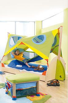 Kids Loft Bed Boys Matti Haba With Images Boys Bed Canopy Kids Canopy Boys Loft Beds