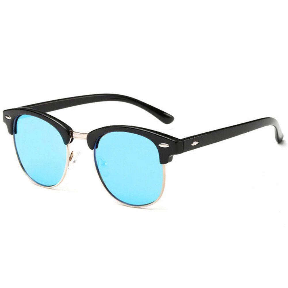 92f3f42d0f10 Joopin-Semi-H9041 Rimless Polarized Sunglasses Women Men Brand Vintage  Glasses Plaroid Lens Sun Glasses (Blue Mirror Lens)