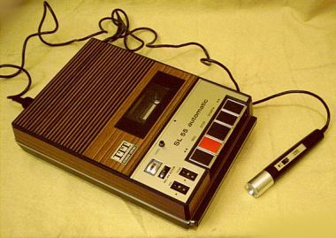 tape recorder with microphone a w lk down memory l ne. Black Bedroom Furniture Sets. Home Design Ideas