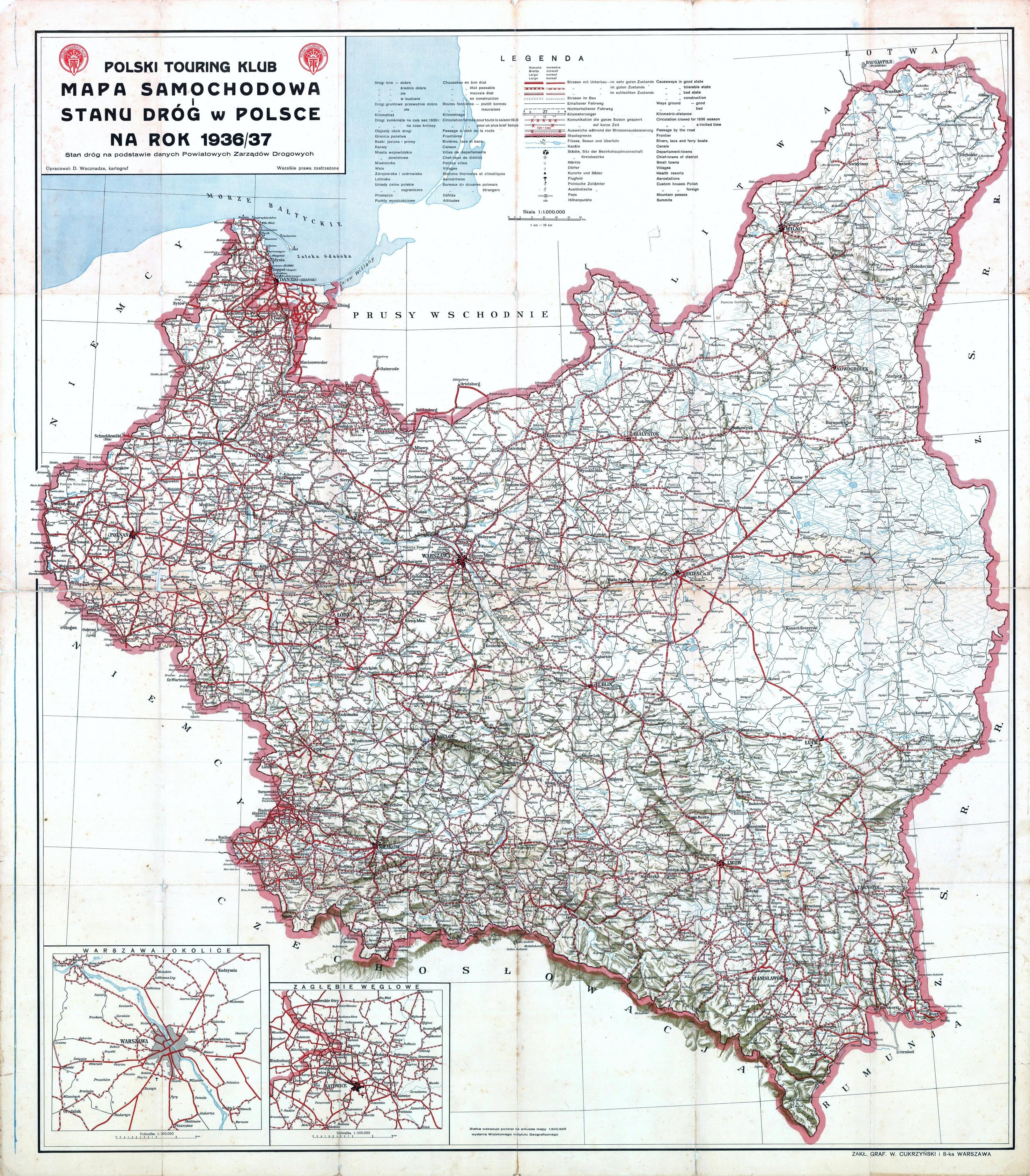 Road Map Of The State Of Roads In Poland In MAPS Pinterest - Poland us map