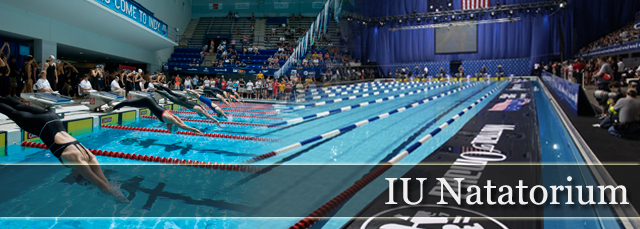 Swimmers Begin The 100 Freestyle Event At The Summit League Championships At The Indiana University Purdue University Natatori Usa Swimming Usa Diving Swimming