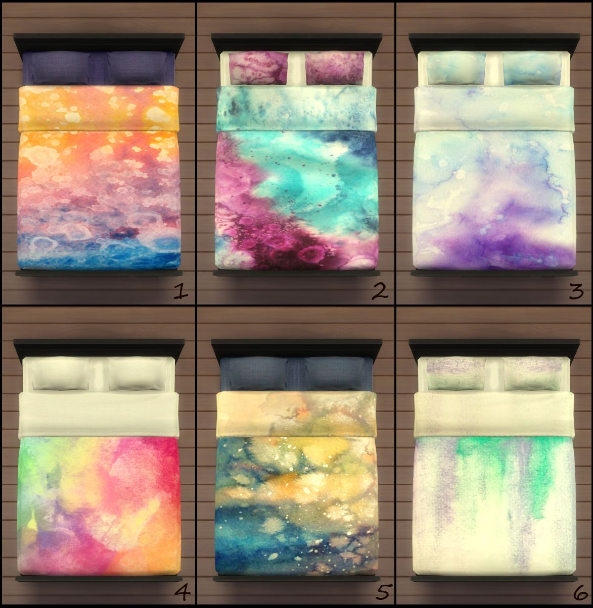 Sims 4 Custom Content Bed Google Search Sims 4 Watercolor