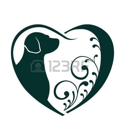Veterinarian Heart Dog Love Abstraction Of Animal Care This Icon