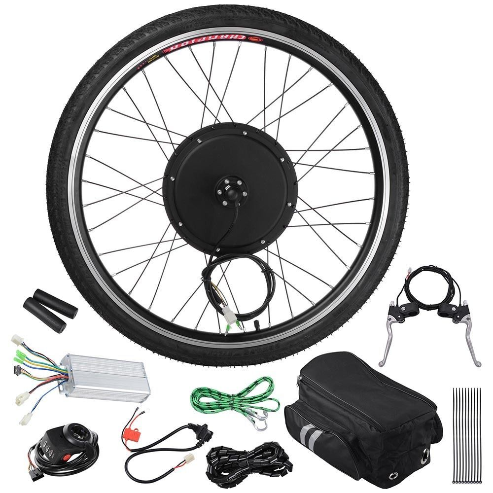 48v 1000w 26 Front Wheel Electric Bicycle E Bike W Tire Motor Conversion Kit Electric Bike Conversion Bike Electric Bicycle