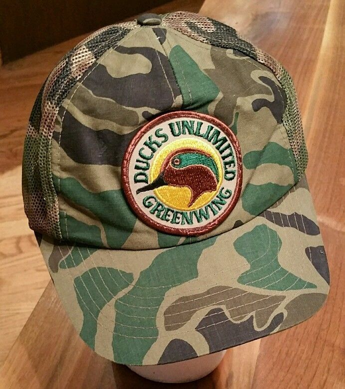 Ducks Unlimited Greenwing Snapback Camouflage Hat Camo Trucker Cap Hunting Fish Ducksunlimited Trucker Camouflage Hat Camo Trucker Cap Hats