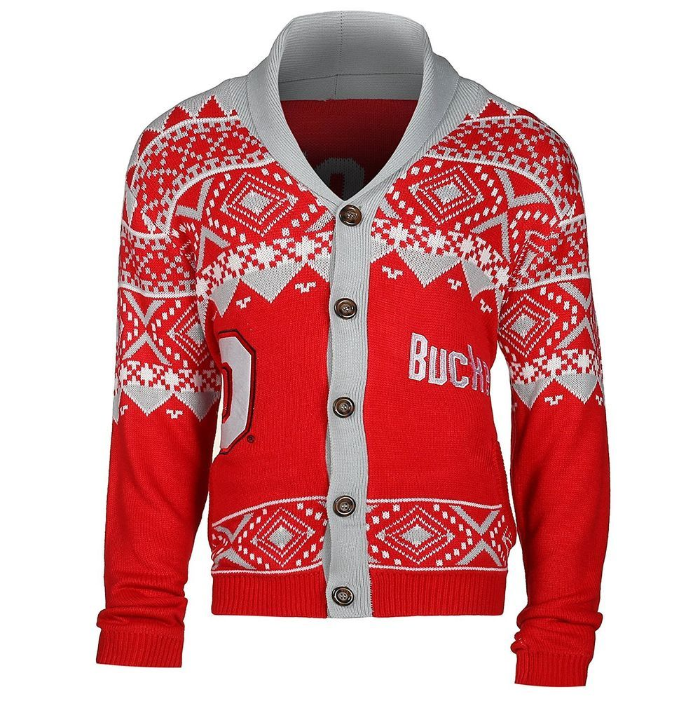 Ugly Christmas Sweater Ohio State Buckeyes Mens Medium Large Holiday ...
