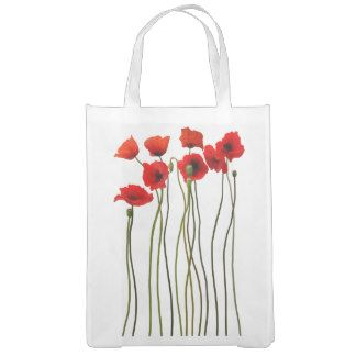 Watercolor Poppies Grocery Bag gift
