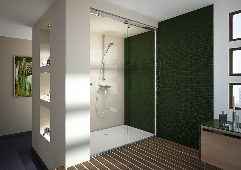 Gemauerte Dusche, Badezimmer Und