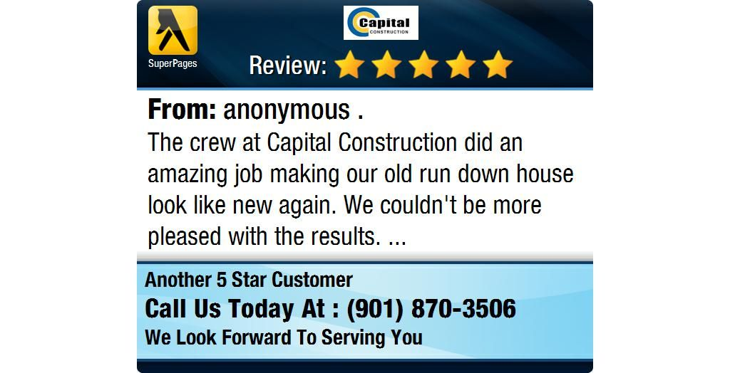 The crew at Capital Construction did an amazing job making