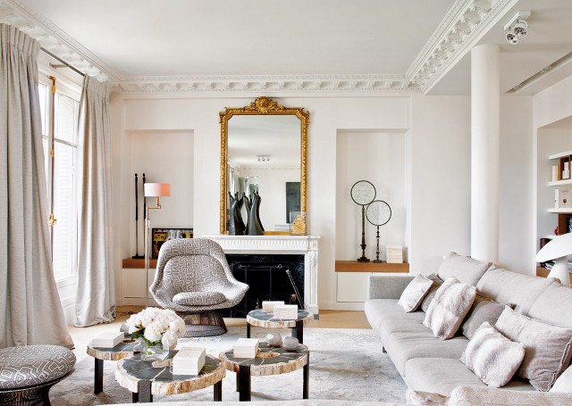 Inside A Scandinavian Inspired Nyc Apartment That S 100 Shoppable Parisian Living Room Parisian Interior French Country Living Room