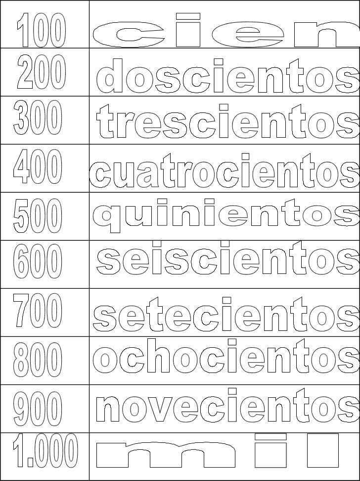imagenes de escritura de numeros de 100 a 900 - Buscar con ...