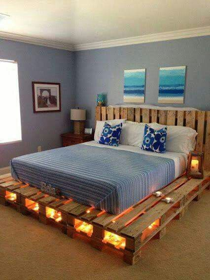 Una base de cama un poco fuera de lo común | muebles | Pinterest ...