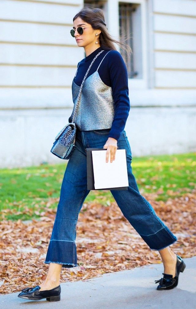 a104ac0780 style hack  layer a turtleneck under a going out shirt - cropped flares -  street style - closetful of clothes
