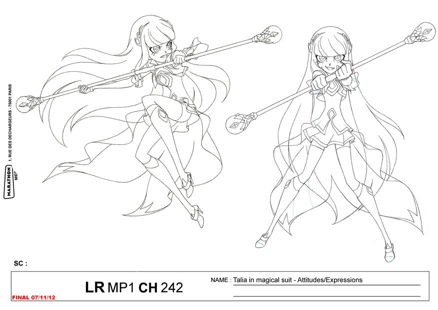 Lolirock Talia Transformation Character Sheet Princess Coloring Pages Sketches Cool Drawings