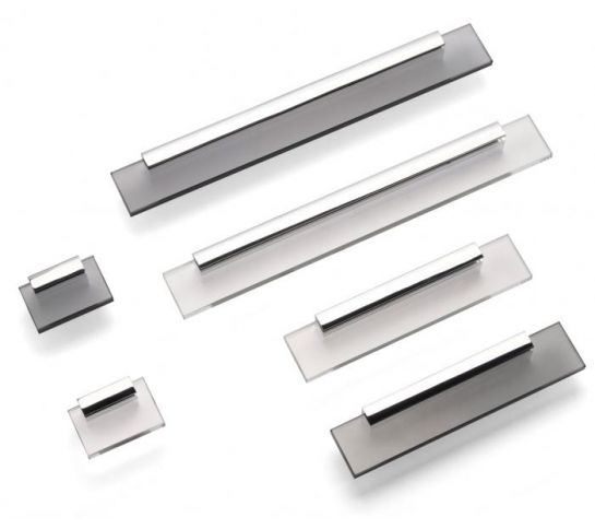 Shard Kitchen Door Handles Modern Pulls Chrome Door Handles