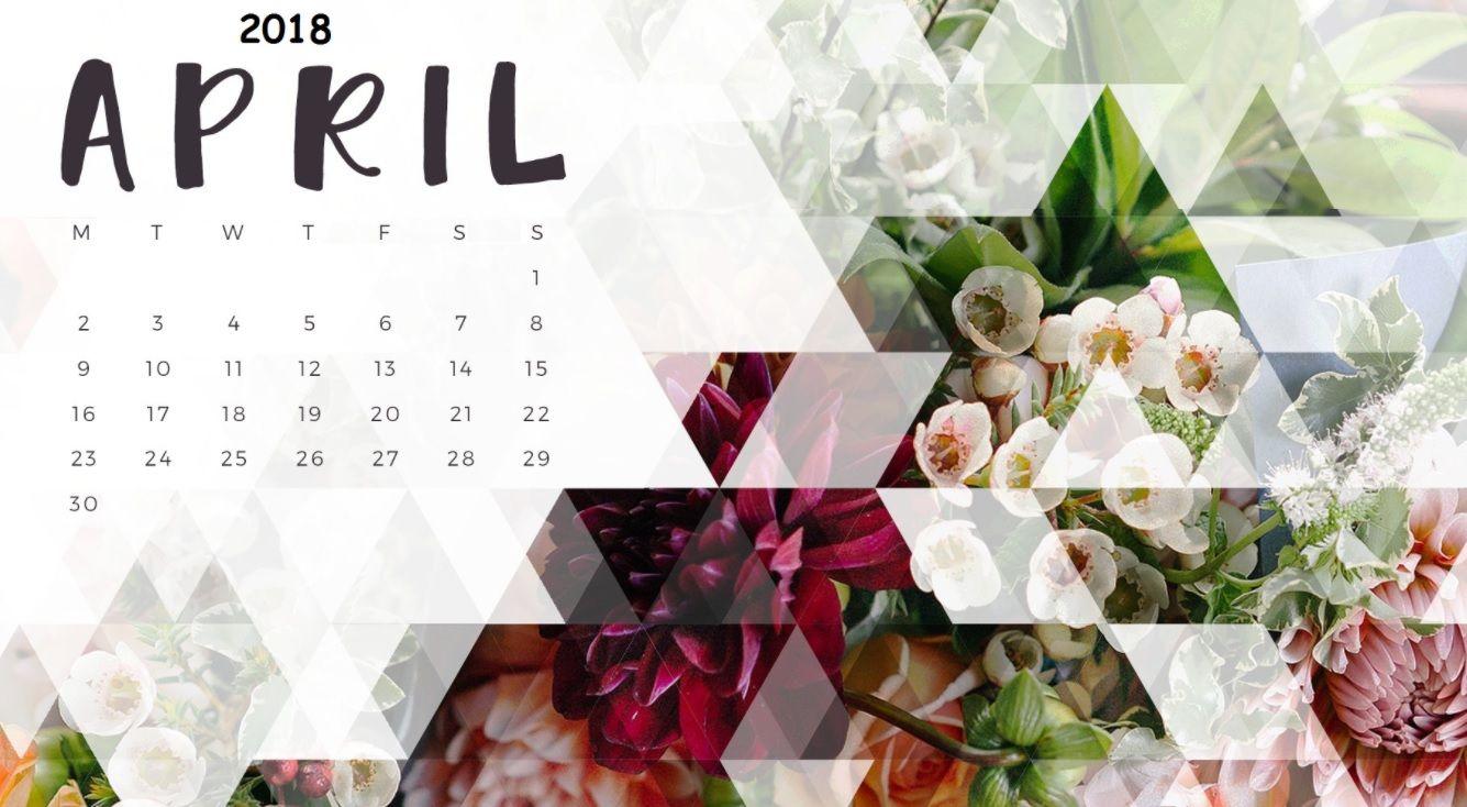 April 2018 Calendar Wallpaper Desktop Wallpaper Calendar