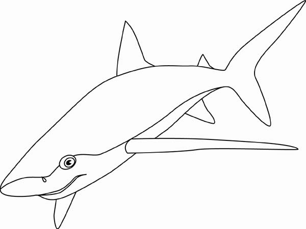 A Blue Shark Patroling The Sea Bed For Food Coloring Page Kids Play Color Food Coloring Pages Shark Coloring Pages Coloring Pages