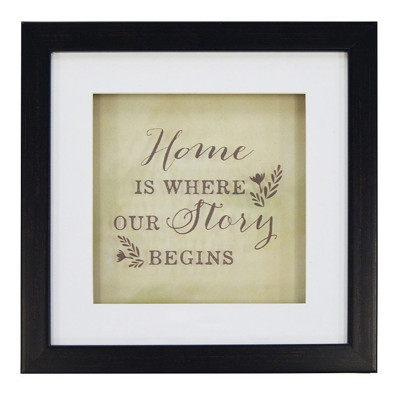 """New View """"Home"""" Framed Wall Art, Grey"""