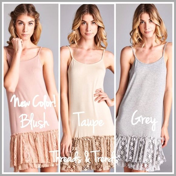 01191f9809c83 Ruffle Lace Extender Tank Dress ( 3 Sizes) The genius fashion idea for  giving tops