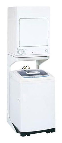 Ge Spacemaker Laundry Stacking Kit Dsdr24f Best Buy Compact Washer And Dryer Washer And Dryer Stand Portable Washer And Dryer