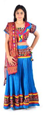 Styleincraft Handmade Multicolor Kutchi Work Crush Gujarati Chaniya Choli Lehengas on Shimply.com