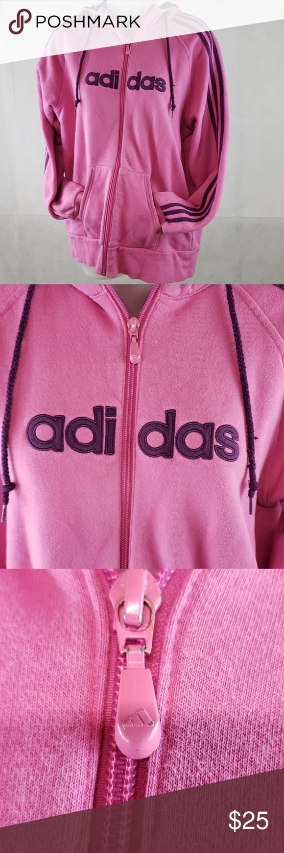 adidas Black Bright Pink Three Stripe Tights (For Big Girls