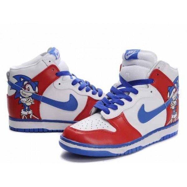 High Quality Custom Sonic The Hedgehog Nike Dunk High Tops Shoes Nike Dunks Nike Dunk High High Top Shoes