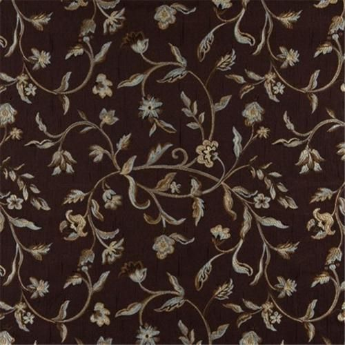 A0011B Brown Gold Persimmon Ivory Floral Brocade Upholstery Fabric By The Yard