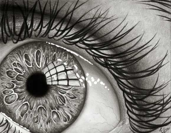 how to draw a reflection in an eye
