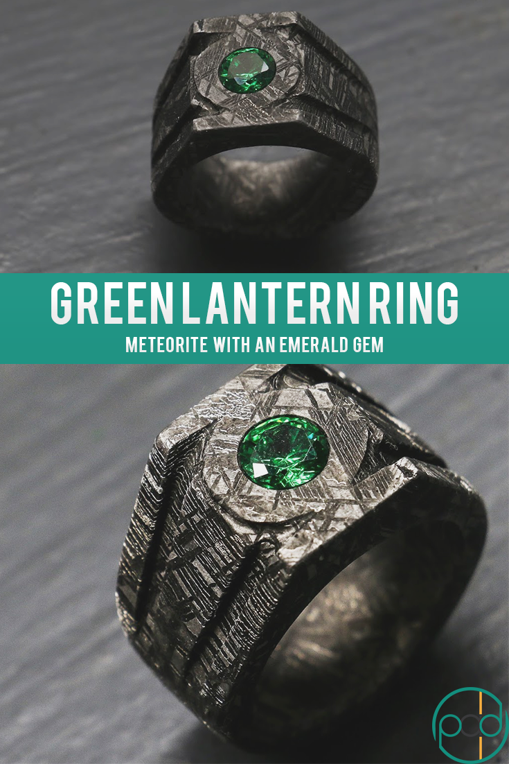 In This Video Patrick Adair Designs The Green Lantern Power Ring This Ring Is A Very Technical Ring Made Using P Fantasy Ring Silver Wrap Ring Promise Jewelry