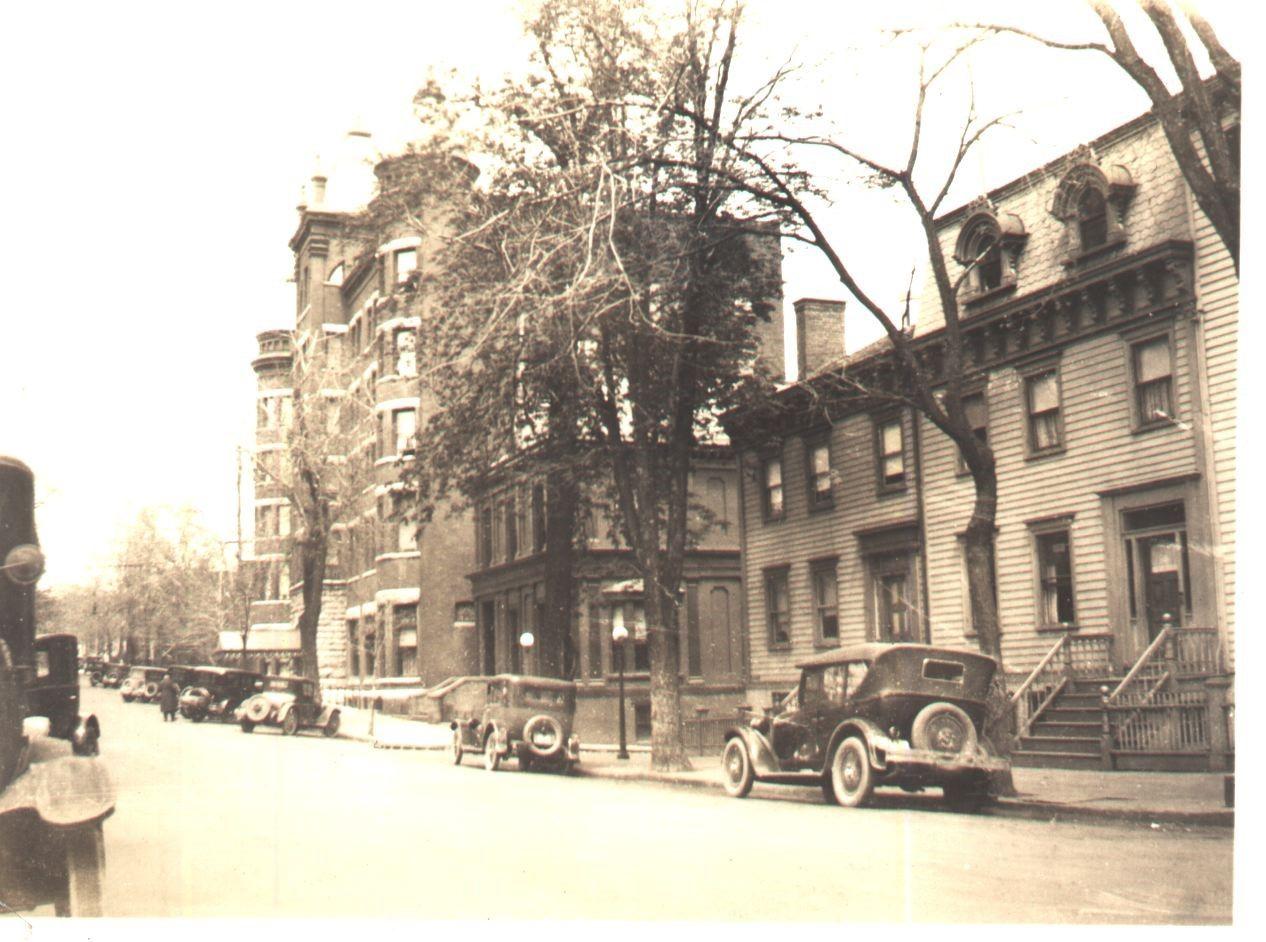 Grand Street at 2nd Street 1920's