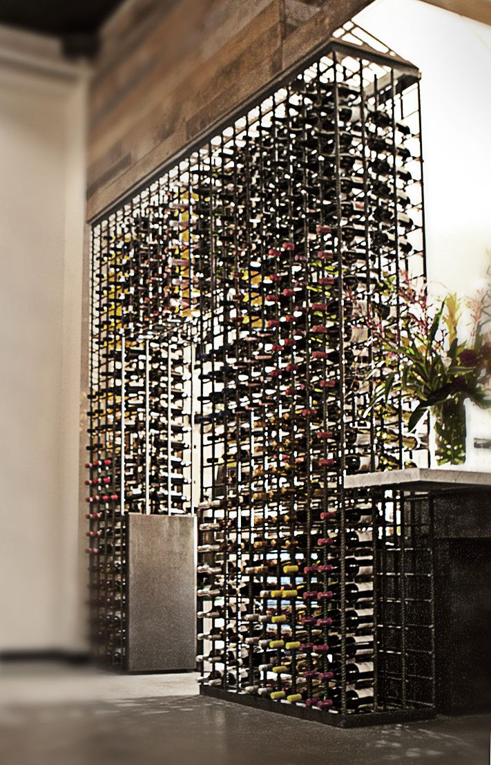 Wine Rack Constructed With Rebar At The Santa Monica Restaurant