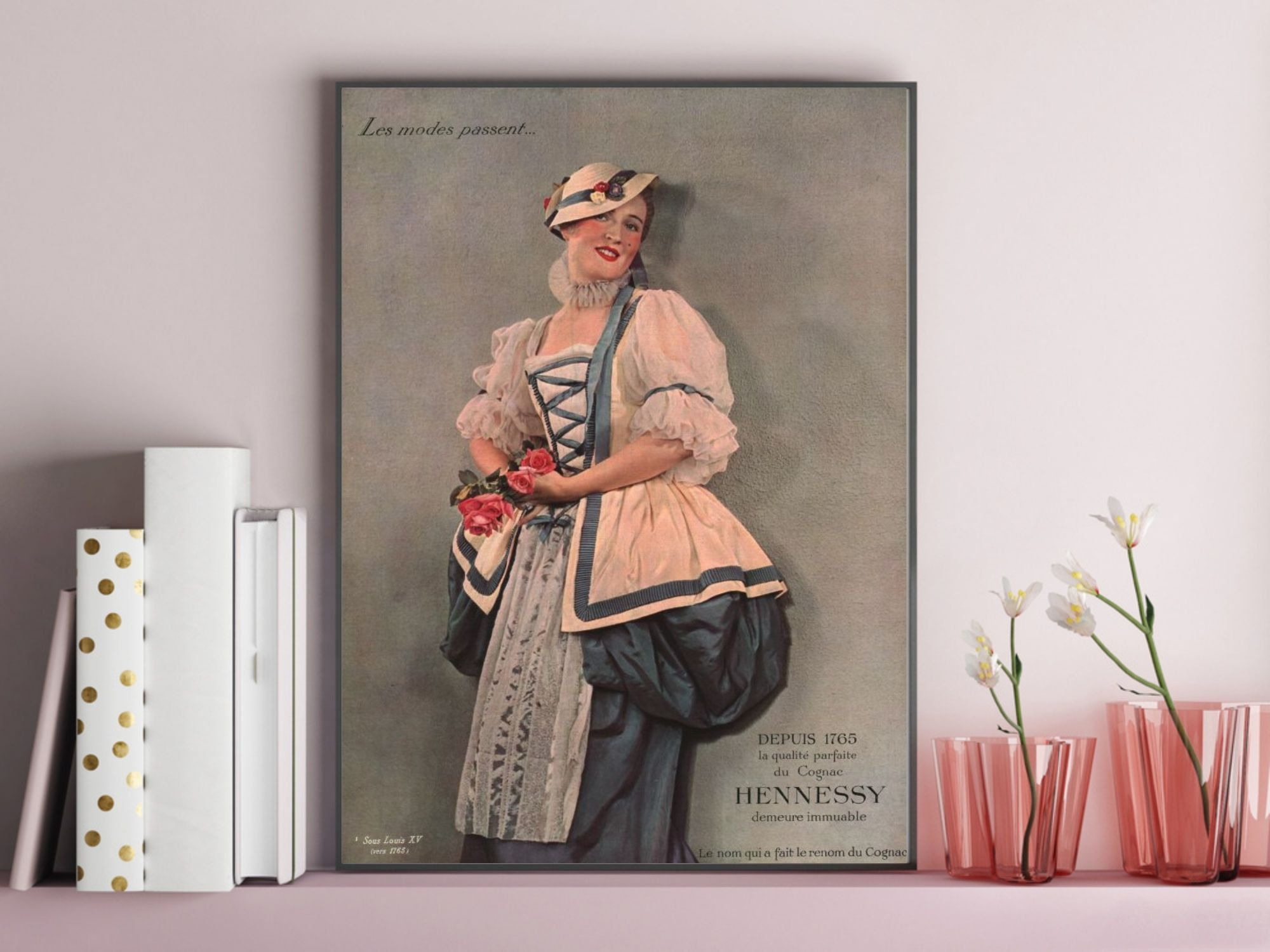Cognac Hennessy Tear Sheet Vintage Poster 1935 French Lady Illustration Print Hennessy Memorabilia Drink Poster Wall In 2021 Decal Wall Art Hennessy Vintage Posters