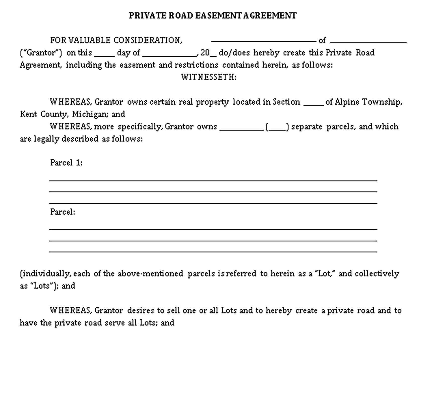 Private Agreement Template Sample Agreement Told You So Private Private road maintenance agreement template