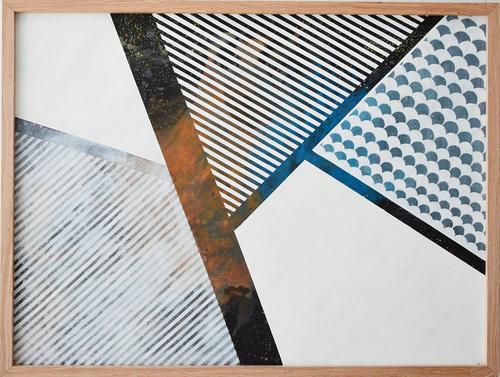 Myriam Moreno Martinez - Universal snake. Serpiente Universal. Abstract painting. Universe. Geometry.