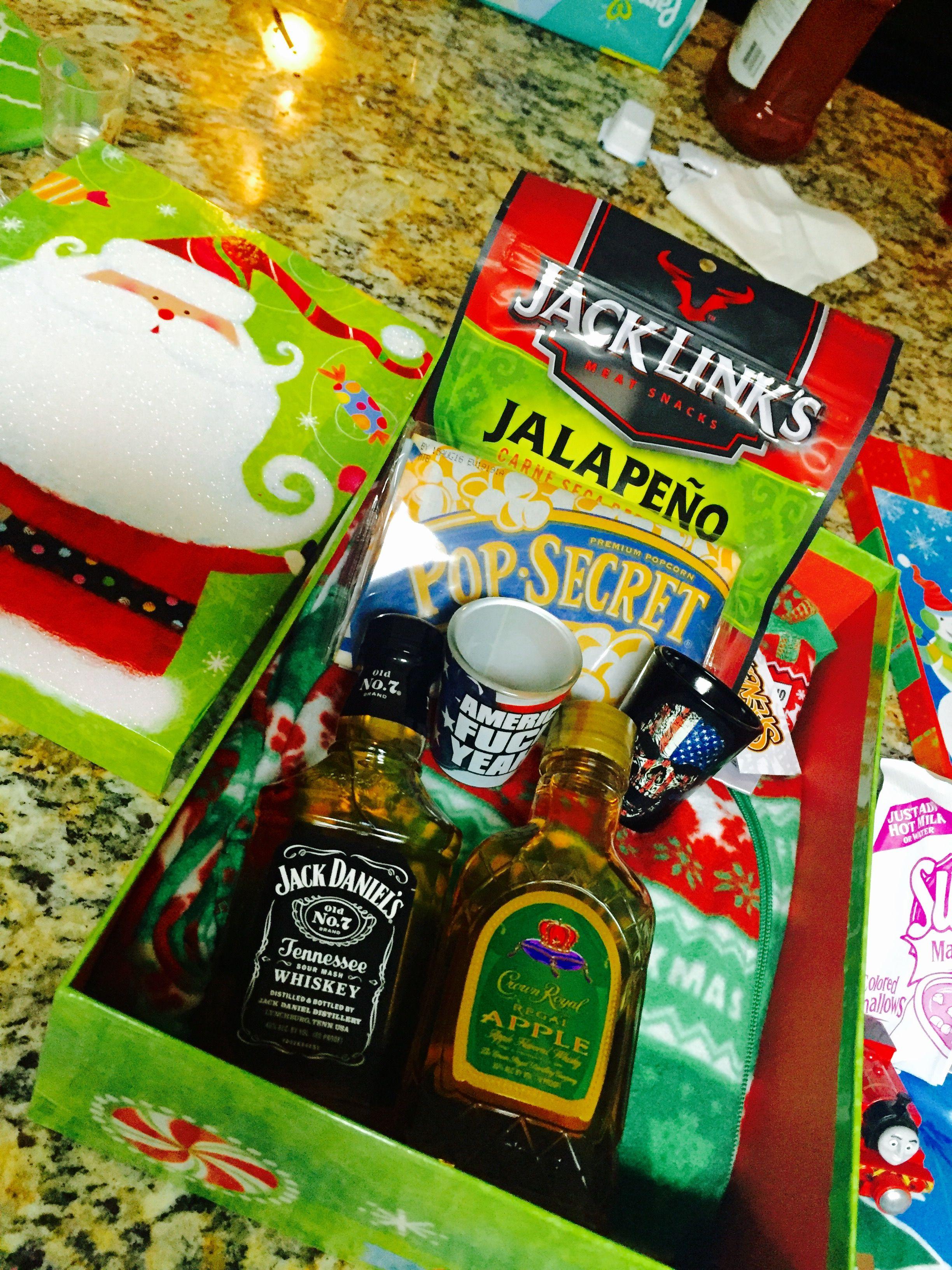 I made my husband a Christmas Eve Box with Adult Footsie