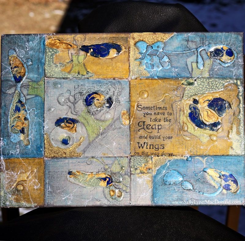 Take the Leap – Pebeo Mixed-Media Canvas
