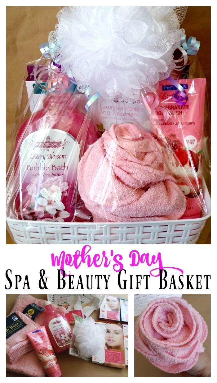 Facial spa gift baskets