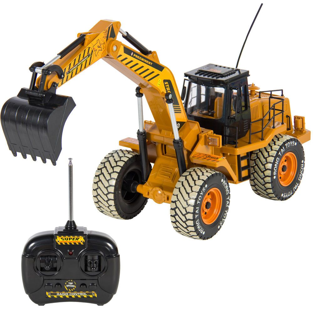 electric powered rc excavator tractor kids toys children fun