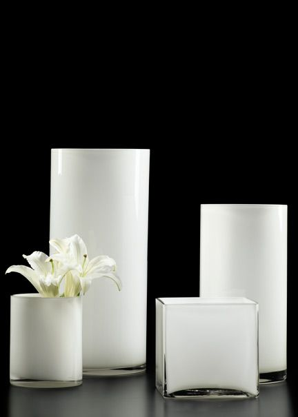 6x8 6x12 And 7x16 Inch Black Glass Cylinder Vases Party Ideas