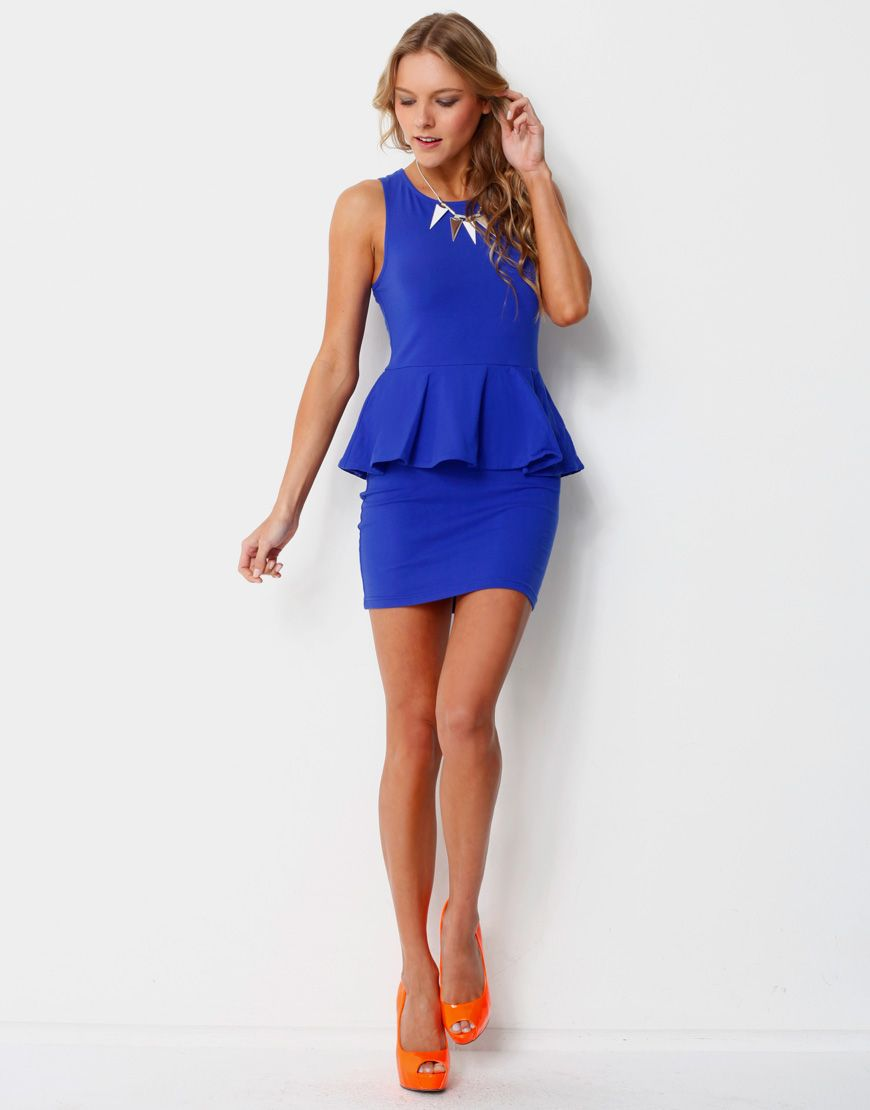 2019 year for girls- Tipsclass Fashion to night out peplum dress