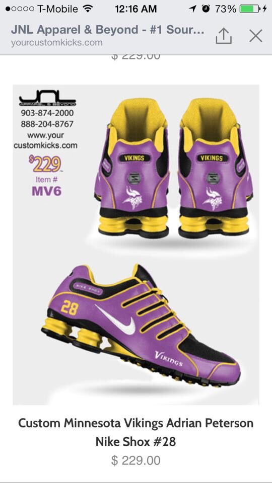 Vikings shoes � Vikings Adrian PetersonViking ShoesMinnesota Vikings  FootballViking WomanNike ShoxNike ...