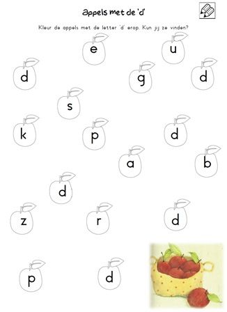 Werkblad Letter D Letter D Werkbladen Letteren En