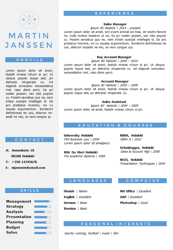 resume tempalte in word, fully editable/overwritable. incl 2nd, Modern powerpoint