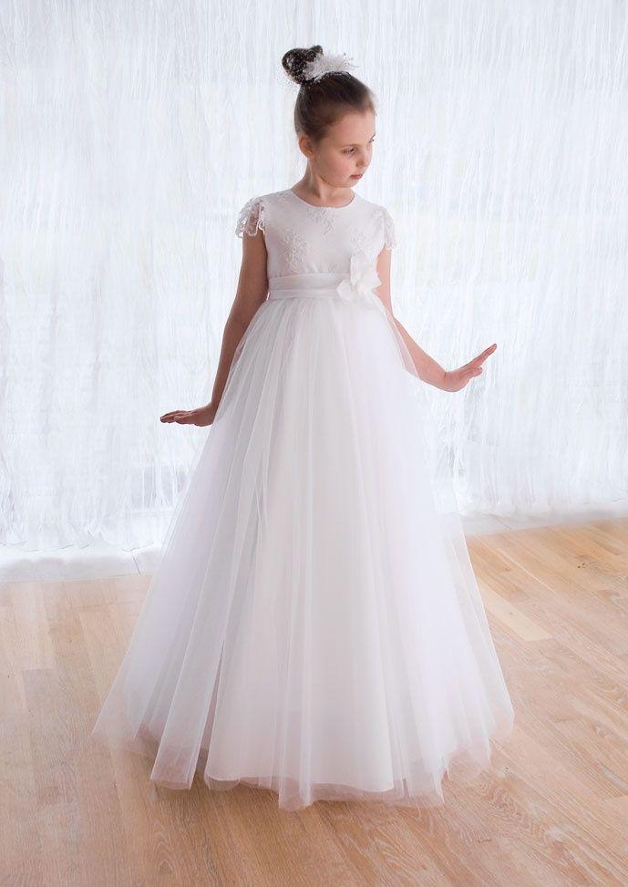 c650da0f16 sukienki komunijne - communion dress - sukieneczka komunijna z koronką i  tiulem tutu
