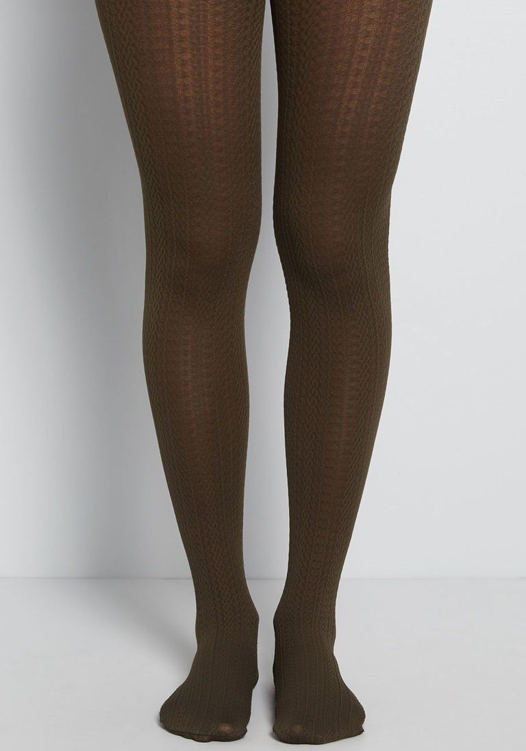 9a714ff45e154 Cable for Discussion Tights in Olive in 2019 | Products | Green ...