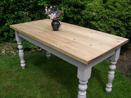 Best Same As Raw Pine Table With Legs Painted Pine Dining 640 x 480