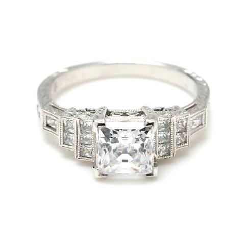 Beverley K Art-Deco Inspired Diamond Engagement Ring